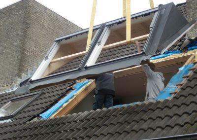 installatie dubbl Baskapel op dak
