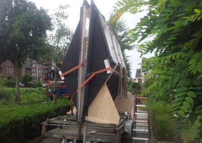 Baskapel op aanhangwagen