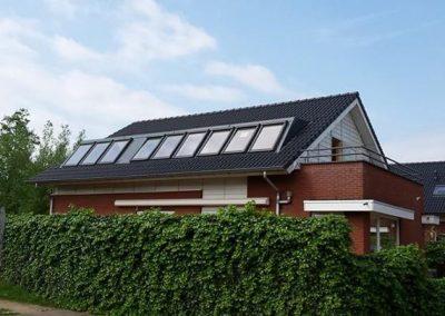 Baskapel met negen ramen op dak
