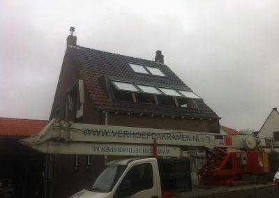 Installatie Baskapel op dak