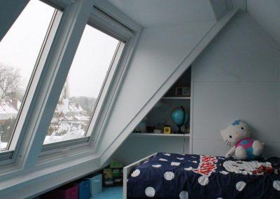 Baskapel vanuit slaapkamer