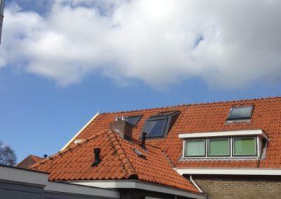 Baskapel op dak gezien vanaf grond