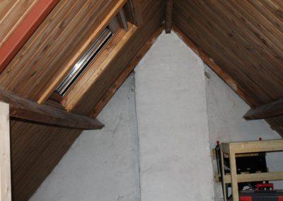 Baskapel op zolder binnenaf